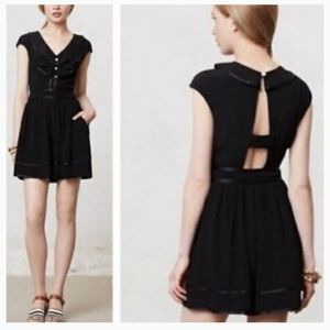 Anthropologie Elevenses Lexi romper NWOT
